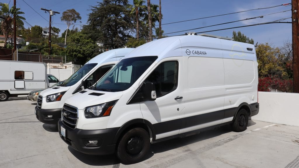 Van pick up/check in is easy and contactless with Cabana Vans