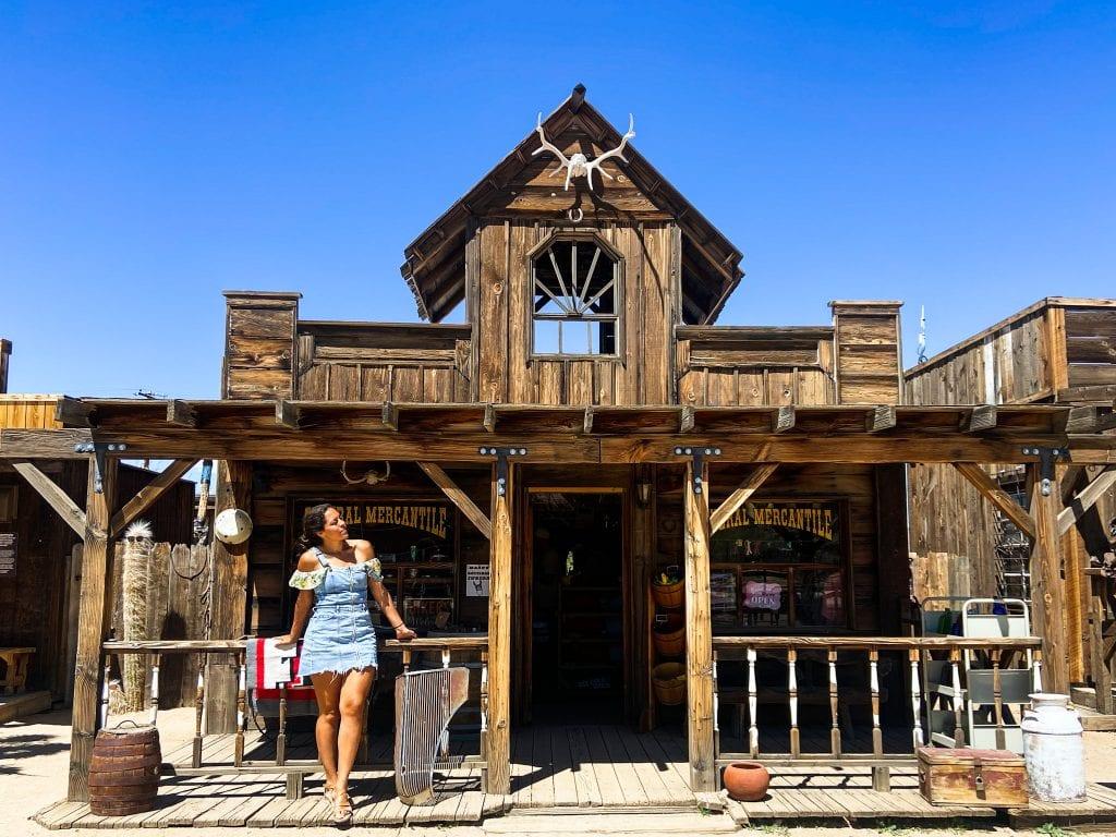 Pioneertown in California is a movie set Old Western Town.