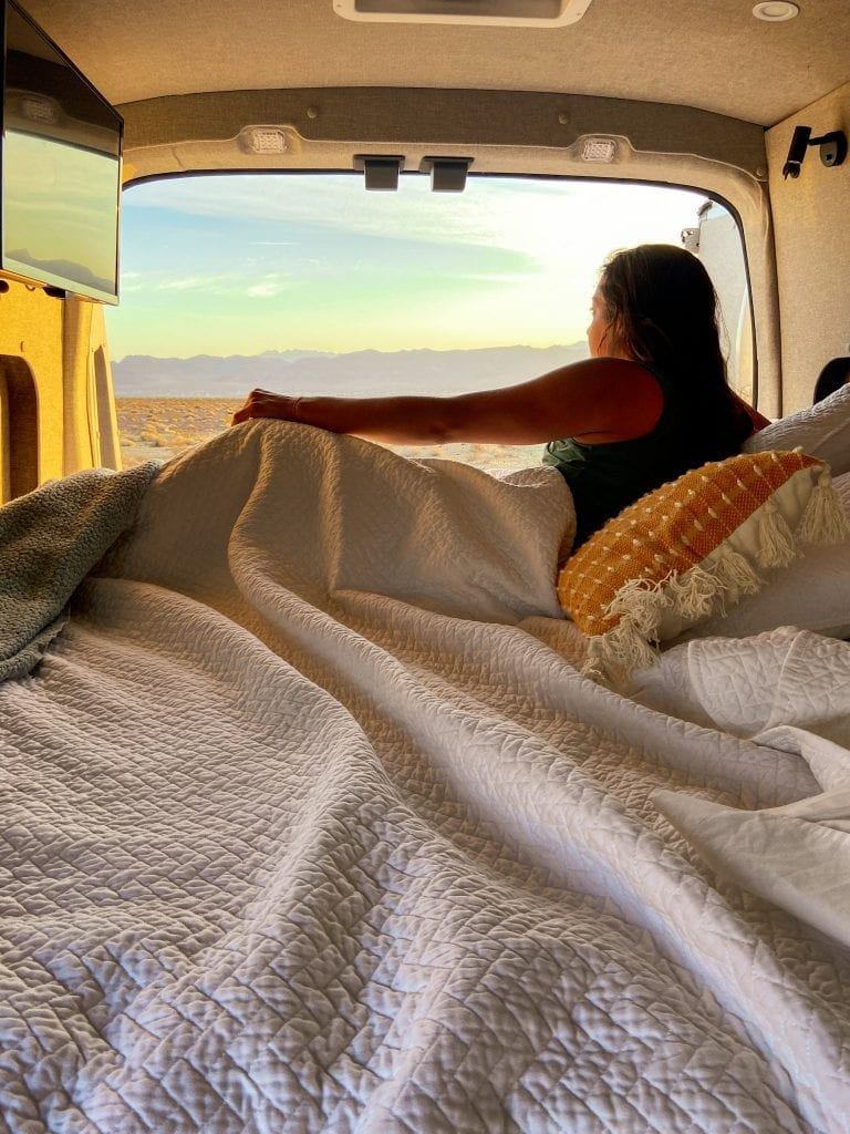 Wake up in your hotel room anywhere with Cabana Vans and embrace van life.