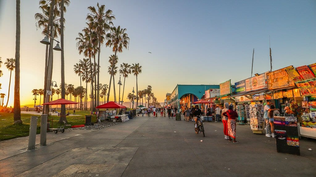 Venice Beach boardwalk one of the top things to do in Venice Beach