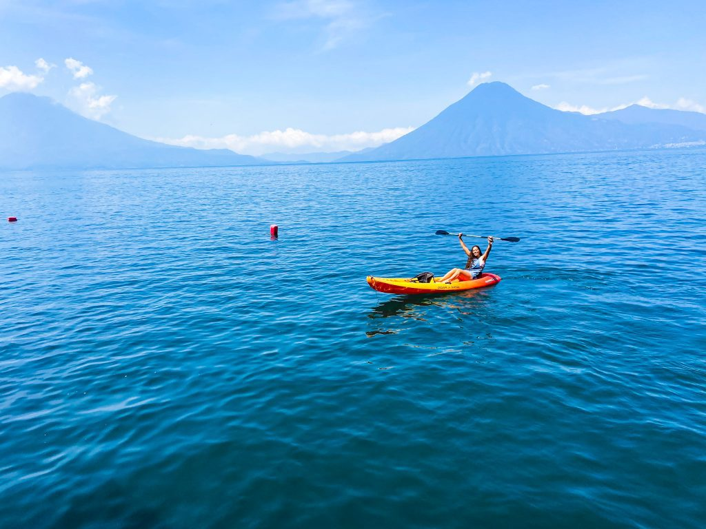 Lake Atitlan has so many things to do it could take up your entire time in Guatemala. However, this travel guide to Lake Atitlan should help.  Go kayaking on Lake Atitlan and experience it from the water.
