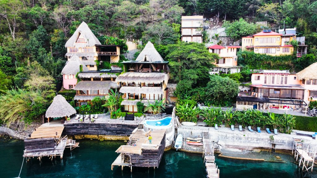 Laguna Lodge is a beautiful eco lodge and retreat located on Lake Atitlan. It is one of the best hotels on Lake Atitlan.